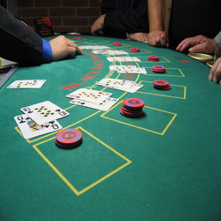 Screenshot of a Typical Blackjack Table