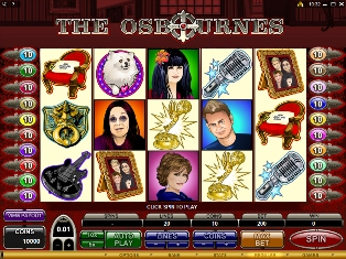 Many Microgaming Slots including the Osbournes Slot at Jackpot City